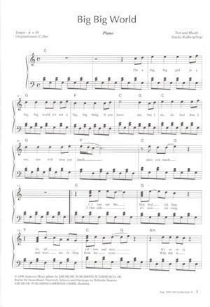 Sheet Music Emilia - Big Big World