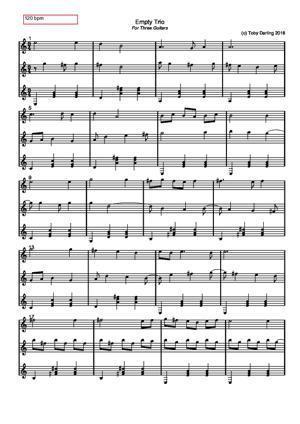 Sheet Music Empty Trio
