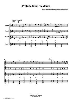 Sheet Music Prelude from Te Deum
