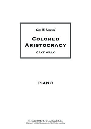 Sheet Music Colored Aristocracy