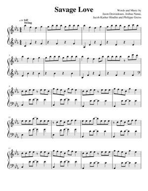 Sheet Music Jason Derulo - Savage Love