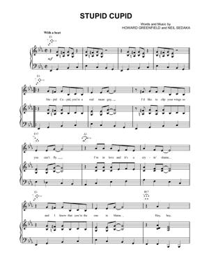 Sheet Music Connie Francis - Stupid Cupid