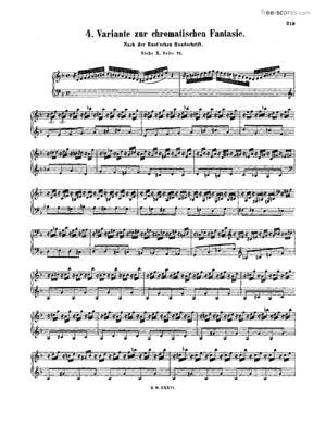 Sheet Music Fantasia in D minor