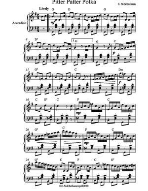 Sheet Music Pitter Patter Polka