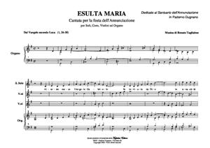 Sheet Music ESULTA MARIA - Cantata for the Feast of the Annunciation