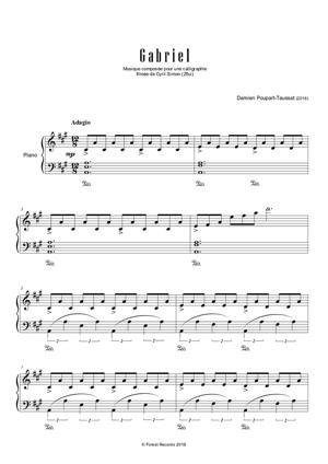 Sheet Music Gabriel
