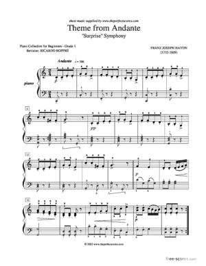 Sheet Music Theme from Andante