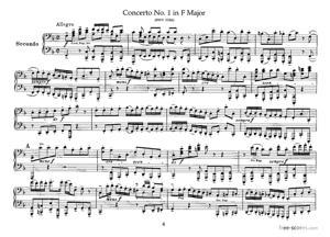 Sheet Music Brandenburg Concerto No.1 in F major