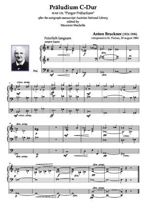 "Sheet Music Präludium C-Dur ""Perger Präludium"" -after the autograph-manuscript Austrian National Library- (WAB 129)"