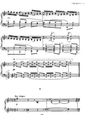 Sheet Music Etude No. 5