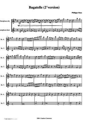 Sheet Music Second Bagatelle