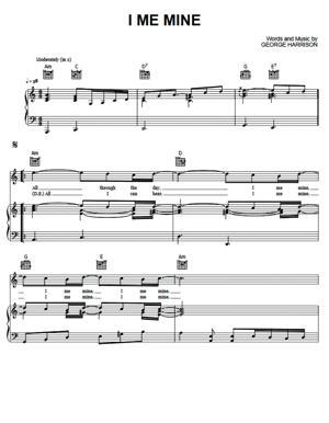 Sheet Music The Beatles - I Me Mine