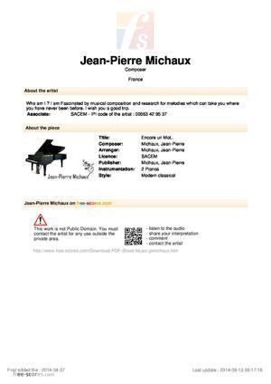 Sheet Music Encore un Mot..