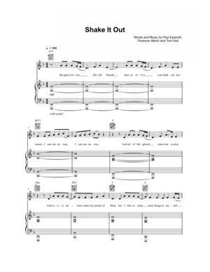 Sheet Music Florence + The Machine - Shake It Out