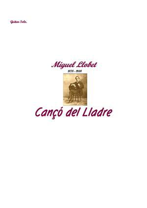 Sheet Music Canço del Lladre