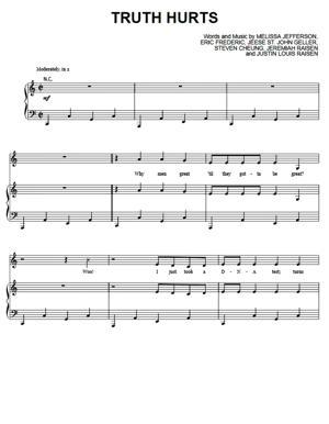 Sheet Music Lizzo - Truth Hurts