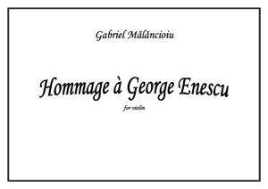 Sheet Music Hommage a George Enescu