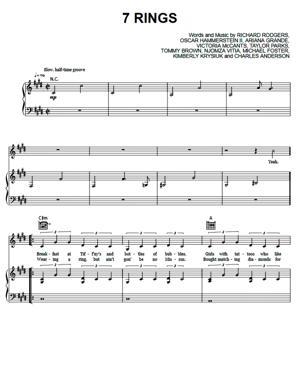 Sheet Music Ariana Grande - 7 Rings