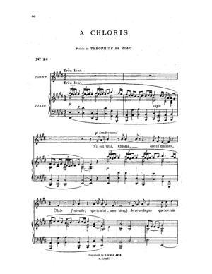 Sheet Music À Chloris