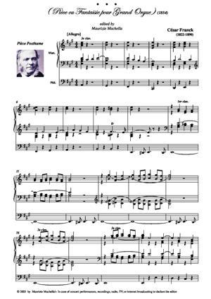 Sheet Music Pièce ou Fantaisie pour Grand Orgue -1854
