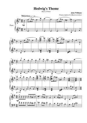 Sheet Music Harry Potter - Hedwig's Theme