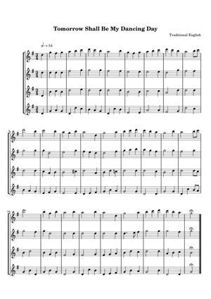 Sheet Music Traditional English - Tomorrow Shall Be My Dancing Day