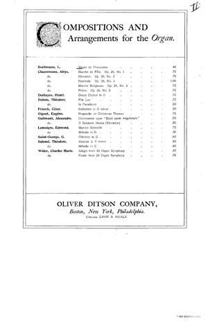 Sheet Music Verset de Procession
