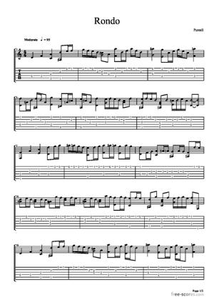 Sheet Music Rondo