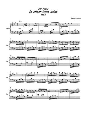 Sheet Music minör tones arias no.7