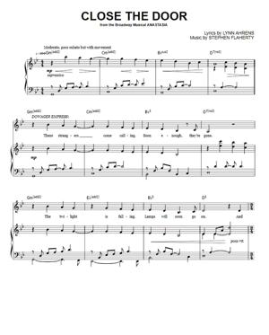 Sheet Music Anastasia - Close The Door