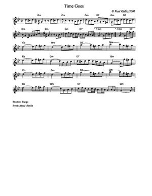 Sheet Music Time Goes