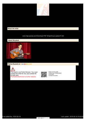 Sheet Music Névralgie Blue