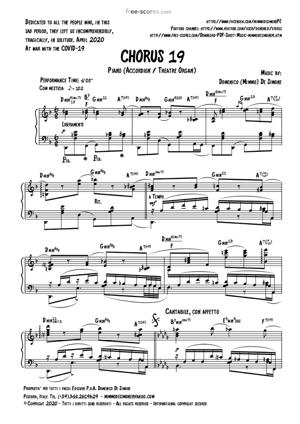 Sheet Music CHORUS 19
