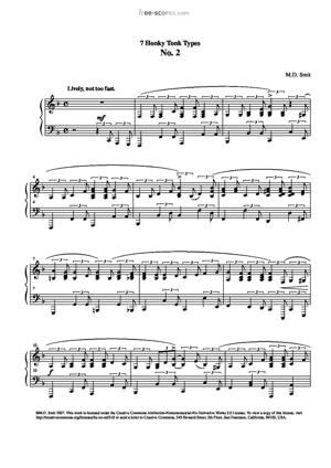 Sheet Music 7 Honky Tonk Types No. 2