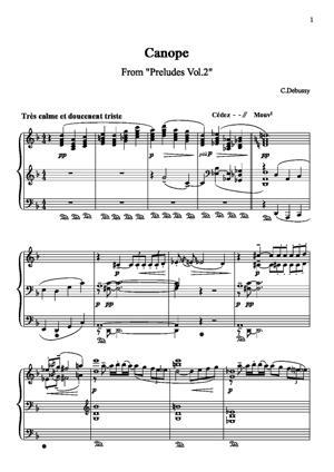 Sheet Music Préludes Vol 2 : Canope