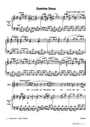 Sheet Music Domine Deus