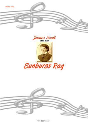 Sheet Music Sunburst Rag