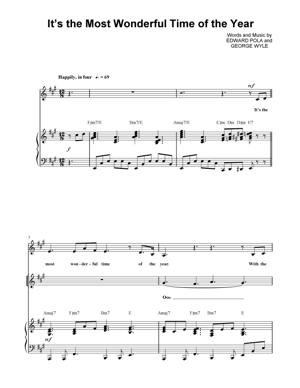 Sheet Music Christmas Sheet Music - It's The Most Wonderful Time of The Year