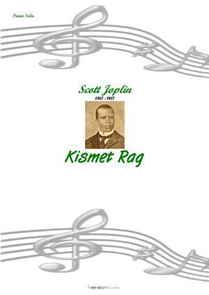 Sheet Music Kismet Rag
