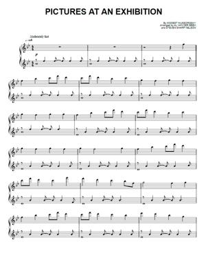 Sheet Music The Piano Guys - Pictures At An Exhibition