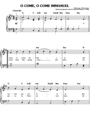 Sheet Music Christmas Sheet Music - O Come O Come Immanuel