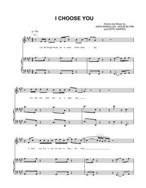 Sheet Music Sara Bareilles - I Choose You