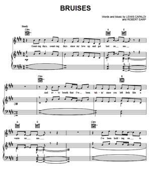 Sheet Music Lewis Capaldi - Bruises