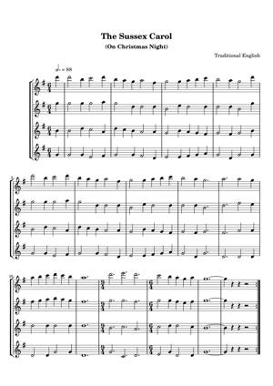 Sheet Music Traditional English - The Sussex Carol