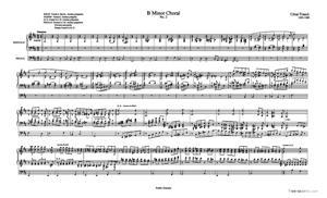 Sheet Music Choral in B Minor