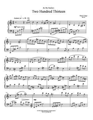 Sheet Music Two Hundred Thirteen