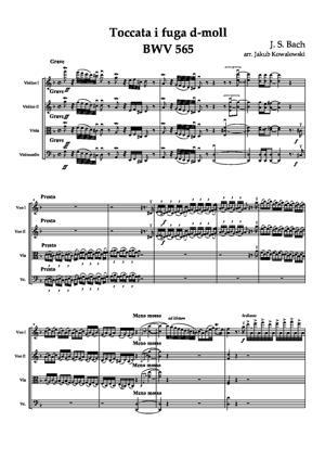 Sheet Music Toccata d-moll BWV 565