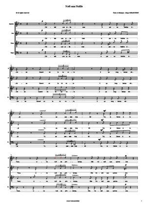 Sheet Music NOEL SANS NOELLE