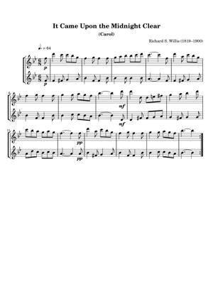 Sheet Music Richard S. Willis (1819–1900) - It Came Upon the Midnight Clear