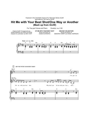Sheet Music Glee - Hit Me With Your Best Shot